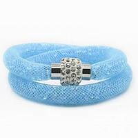 Колье Stardust Swarovski голубое на магнитной застежке, фото 1