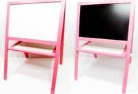 Детский мольберт магнитный розовый