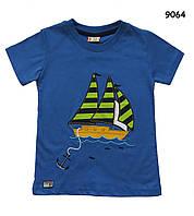 """Футболка """"Корабль"""" для мальчика. 116-122 см"""