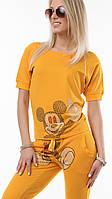 Женский Спортивный костюм Микки Маус Турция жёлтый реглан, фото 1