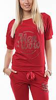 Брендовый турецкий гламурный спортивный костюм женский реглан Турция S M L XL XXL XXXL красный