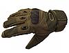 Тактические армейские перчатки «Oakley» (Oakley Factory Pilot Glove W/Leather palm) - Фото