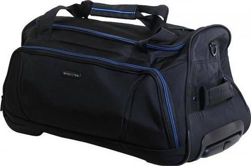 Вместительная дорожная сумка 37 л. VIP COLLECTION Barcelona 55 Navy TF.30.55.navy, черный с синим
