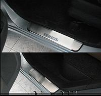 Накладки на пороги Daihatsu Terios 2008- 4шт. premium