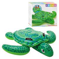 Детский надувной плотик intex 56524, черепаха, 180-157см