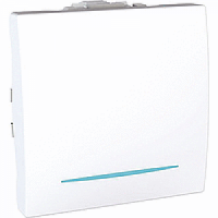 Выключатель перекрестный с подсветкой, белый - Schneider Electric Unica