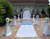 Арка из искусственных цветов на свадьбу