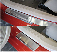 Накладки на пороги Dodge Caliber 2006- 4шт. premium