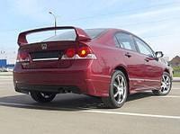 "Накладка на задний бампер Honda Civic ""Mugen"", Юбка задняя Хонда Цивик"