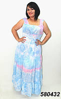 Яркое, шифоновое платье-сарафан! 52-54 р