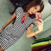 Платье воротник полоска  обл97, фото 1