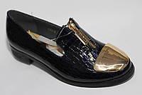 Туфли школьные лаковые для девочек ТМ Леопард (разм. с 32-37 )