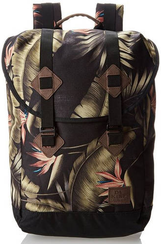 Интересный женский рюкзак с рисунком Dakine TREK 26L palm 610934865769 черный/беж