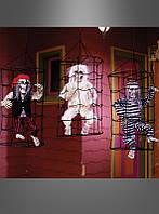 Декоративные куклы Хэллоуин в клетке