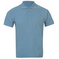 Детская футболка-поло Giorgio (США), унисекс, голубая