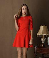 Модное женское расклешенное платье 2016