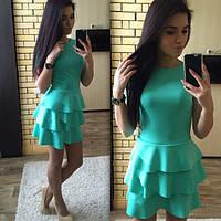 Стильное женское платье с плавними рюшами внизу