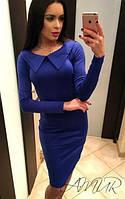 Элегантное женское трикотажное платье