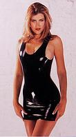Латексное платье Latex Mini Dress Black Small