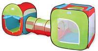 Комплекс игровой 2 палатки с тоннелем A999-120. Палатка 3 в 1. Размер 240 х 74 х 84 см