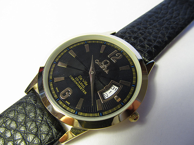 Ультратонкие часы OMEGA De VillE Японский мех.