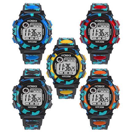 Часы наручные электронные с подсветкой Сamouflage orange (∅40 мм, фото 2