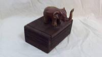 Шкатулка деревянная Слон размер 12*8*6