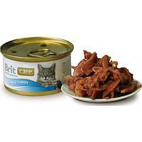 "Brit Care Cat k 80g, тунец и индейка - консервы для кошек ""Tuna & Turkey"""