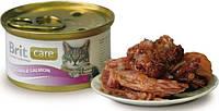 "Brit Care Cat k 80g, тунец и лосось - консервы для кошек ""Tuna & Salmon"""