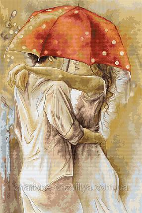 """Набор для вышивания крестиком """"Под зонтом"""". Художник Елена Сотскова, фото 2"""