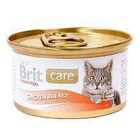 """Brit Care Cat k 80g, куриная грудка - консервы для кошек """"Chicken Breast"""""""