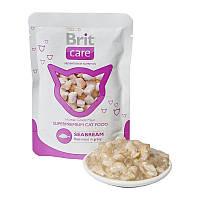 Brit Care Cat pouch 80g, морcкой окунь - консервы для кошек