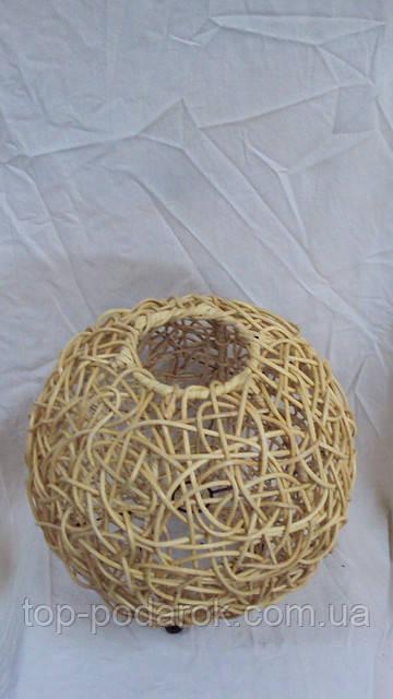 Светильник плетеный из ротанга Шар размер 30*33