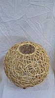 Светильник плетеный из ротанга Шар размер 30*33, фото 1