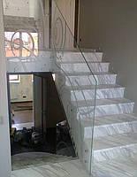 Стеклянные перила для лестниц. Купить. Киев