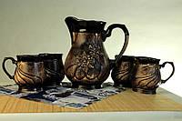 Набор для молока, кувшин и чашки, керамика