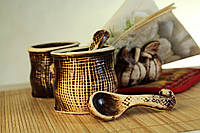 Набор для специй с салфетницей Мешки, керамика