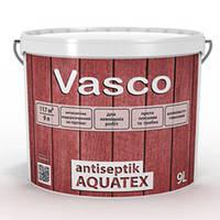 Пропитка для дерева Vasco Antiseptik Aquatex белый, 9 л
