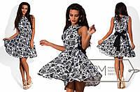Красивое платье с поясом 766 (1611)
