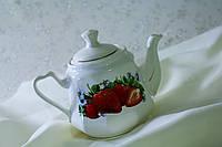 Заварочный чайник Клубника, керамика