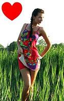 Летний женский костюм для активного отдыха с оригинальным и стильным принтом. Разные размеры, яркие цвета.