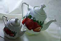 Чайная пара Клубничка,керамика