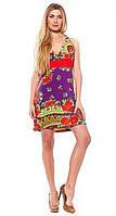 Летний женский сарафан короткий с оригинальным и стильным принтом. Разные размеры, яркие цвета.
