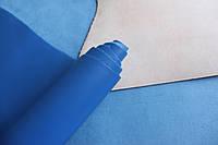 Натуральная кожа для обуви и кожгалантереи синяя арт. СК 1197