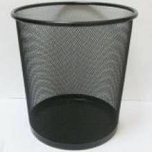 Корзина для мусора J.Otten металлич. кругл. черная 26х28см.
