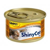 Gimpet Shiny Cat, с тунцом и курицей 70кг