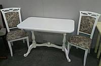Стол Дуэт 110(+30)х65см малый раскладной. Белый, бежевый