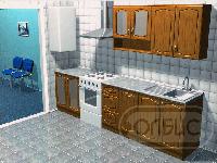 Кухня корпусная Луна 03