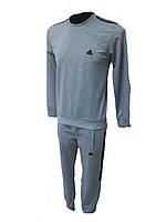 Мужской спортивный костюм Адидас светло-серый Турция
