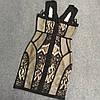 Бандажное платье в бельевом стиле
